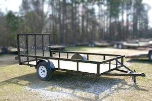 2022 Caliber Trailer Mfg 77X12 w/ Dovetail Utility Trailer