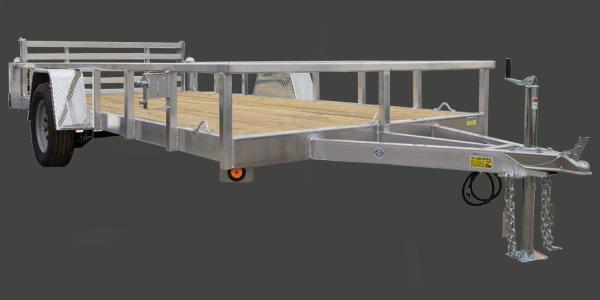 2022 Quality Steel and Aluminum 74x14 SA SIMP ALUM Utility Trailer