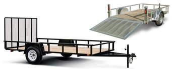 2022 Quality Steel and Aluminum 74x10 SA Steel Utility Trailer