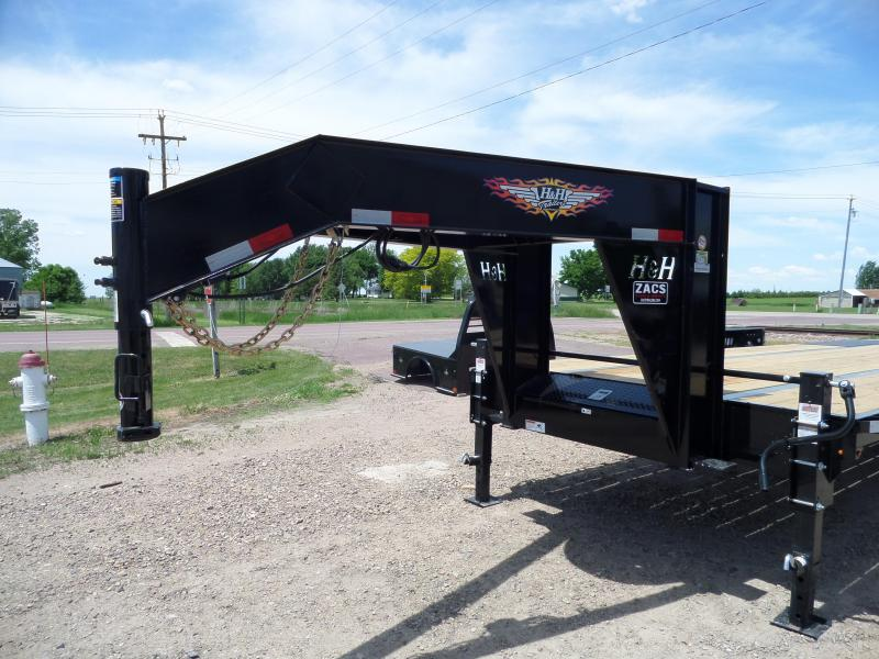 2021 H and H Trailer H25+5SDBCL-GN19-240 Flatbed Trailer