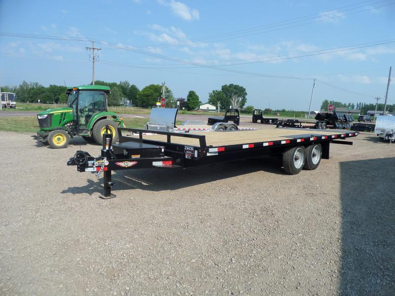 2021 H and H Trailer H10222PTHD-B-176 Flatbed Trailer