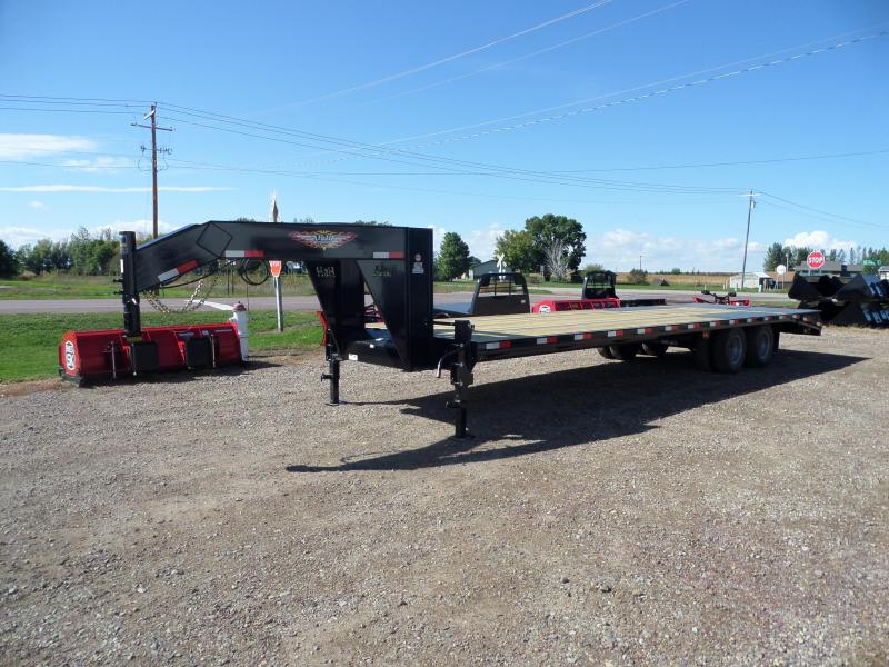 2022 H and H Trailer H25+5SDBCL-GN19-200 Flatbed Trailer