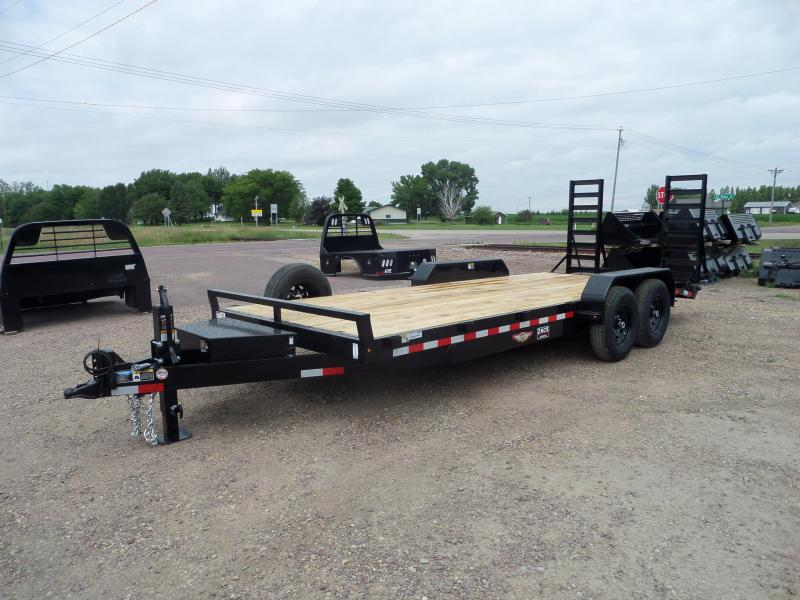 2021 H and H Trailer H8220IL-140 Flatbed Trailer