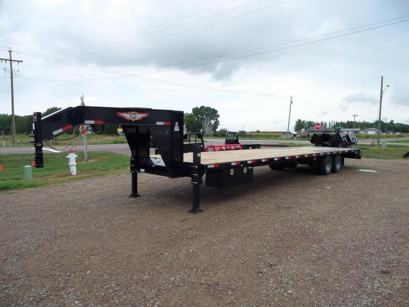 2022 H and H Trailer H30+5SDBCL-GN19-240 Flatbed Trailer