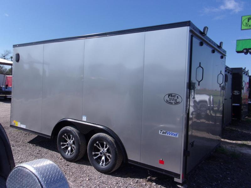 Continental Trailers 8.5x14+ 3 v 7' interior silver  BLACKED OUT trim LOADED Motorcycle Trailer