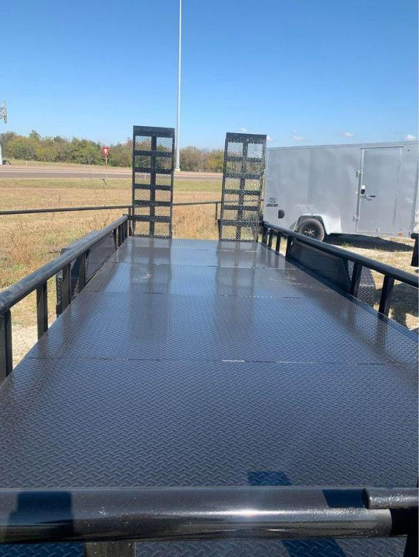 "2021 STEEL DECK EQUIIPMENT TRAILER 83X24 14K "" THE TANK"" Equipment Trailer"