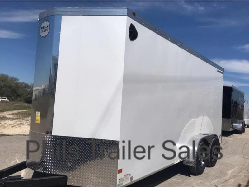 Wells Cargo COMMERCIAL GRADE  7X14 + V NOSE 7 FT INTERIOR ROAD FORCE V  Nose Enclosed Cargo Trailer