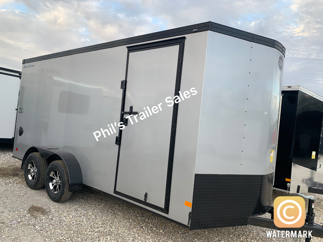 Wells Cargo COMMERCIAL GRADE  7X14 + V NOSE 7 FT INTERIOR ROAD FORCE V  Nose Enclosed Cargo Trailer
