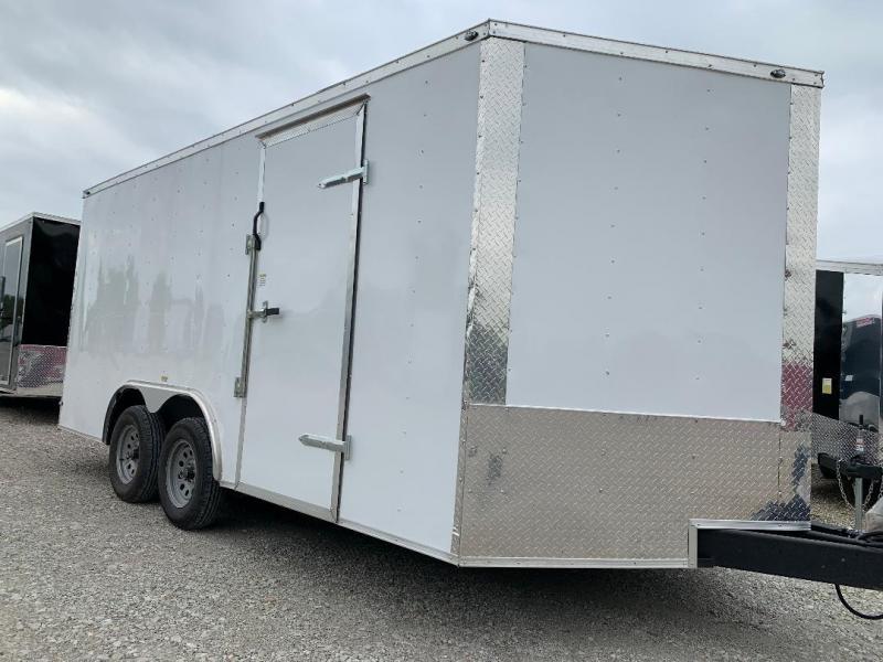 85x16TA + 2 v nose Car hauler Enclosed Cargo Trailer