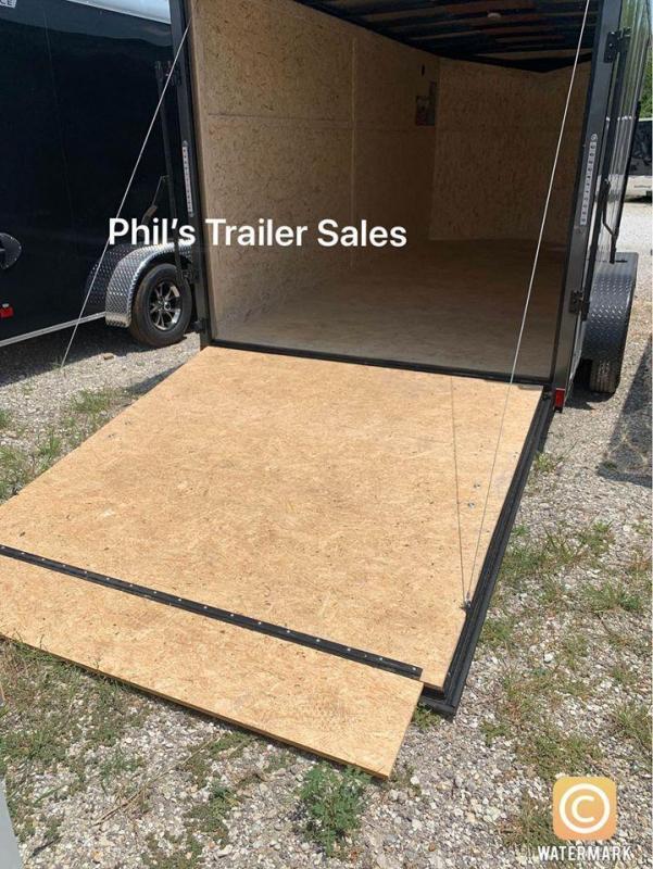 7x16 + 2 v nose 7ft interior  Pace Blackout Cargo / Enclosed Trailer