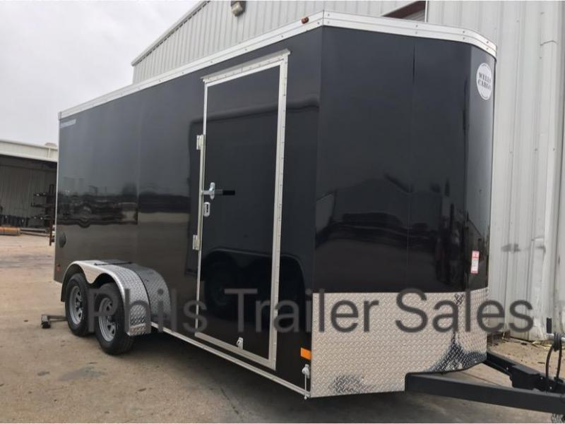 Wells Cargo 7X16 + V 7 FT interior COMMERCIAL GRADE ROAD FORCE Enclosed Cargo Trailer