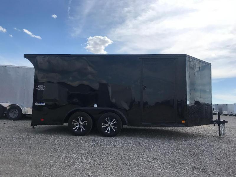 MOTORCYCLE TRAILER  8.5x16+ 3 v  BLACKED OUT LOADED Motorcycle Trailer ENCLOSED TRAILERS