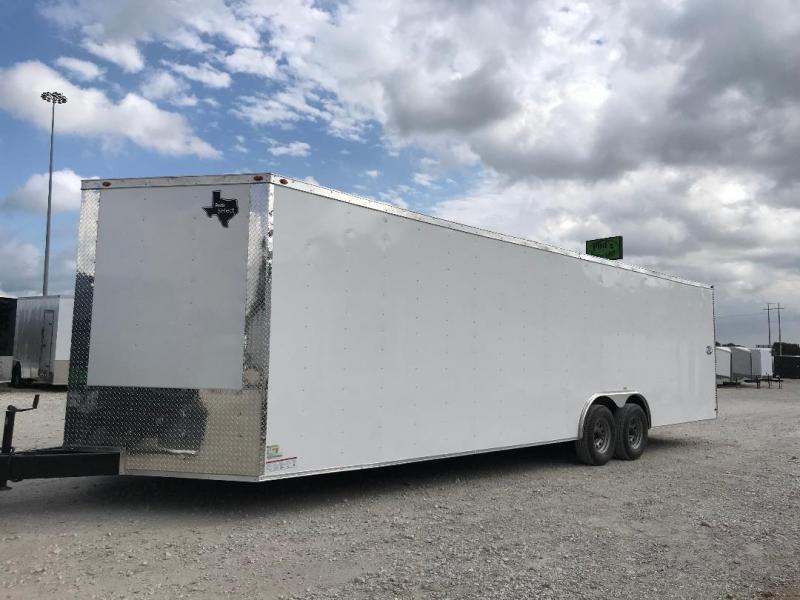 85x28+ 2 v nose 5200 lb axles Car hauler Enclosed Cargo Trailer