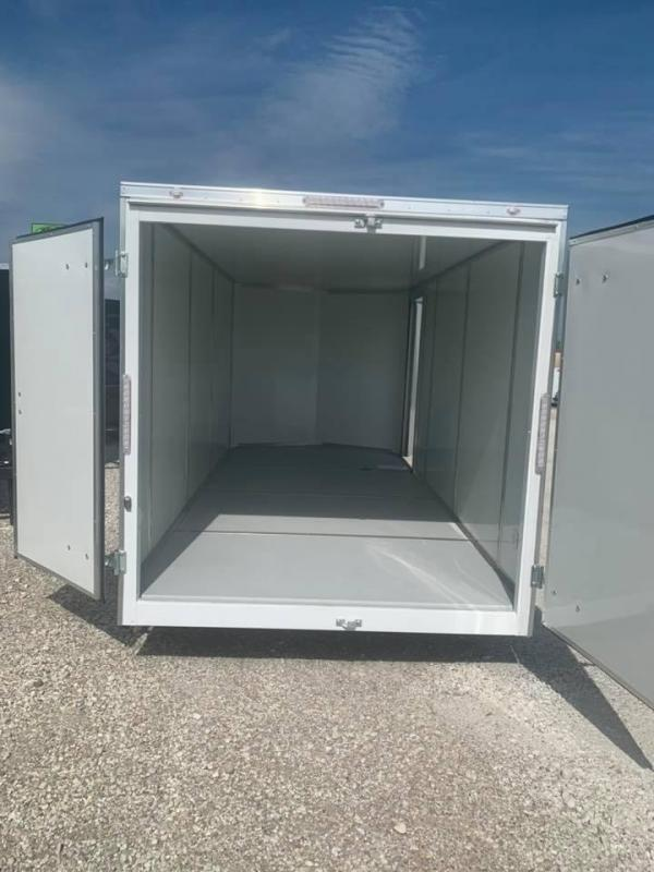 2021  10 YEAR WARRANTY 7 FT DOUBLE DOOR  INTERIOR STEEL MOD 5200 LB AXLES Enclosed Cargo Trailer