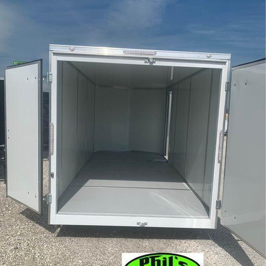 7X16 10 YEAR WARRANTY 7 FT DOUBLE DOOR   INTERIOR STEEL MOD 5200 LB AXLES Enclosed Cargo Trailer