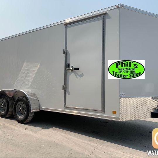 2022 7x14 10 YEAR WARRANTY RAMP INTERIOR STEEL MOD 5200 LB AXLES Enclosed Cargo Trailer