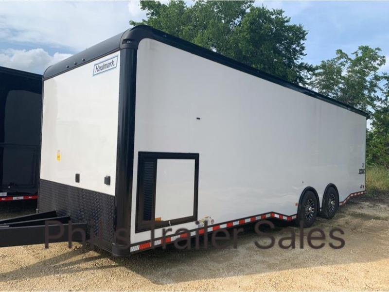 30  BLACK TRIM Haulmark EDGE PRO Car / Racing Trailer LOADED
