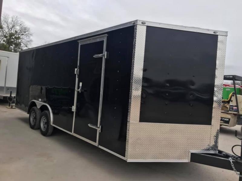 85x24+ 2 v nose 7 FT INTERIOR 5200 lb axles Car hauler Enclosed Cargo Trailer