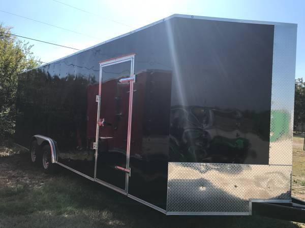 Enclosed trailer 8.5x24 3 v nose 7 interior ht with extras