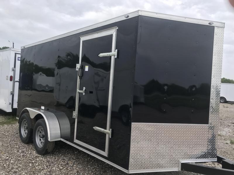 Enclosed trailer 7x16 2 v nose 6'6 cargo trailer Utv trailer
