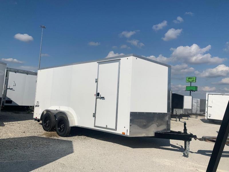 "7X16 + 30 SLANT NOSE 6' 6""  SCREWLESS  Pace SE model UPGRADED Enclosed Cargo Trailer"