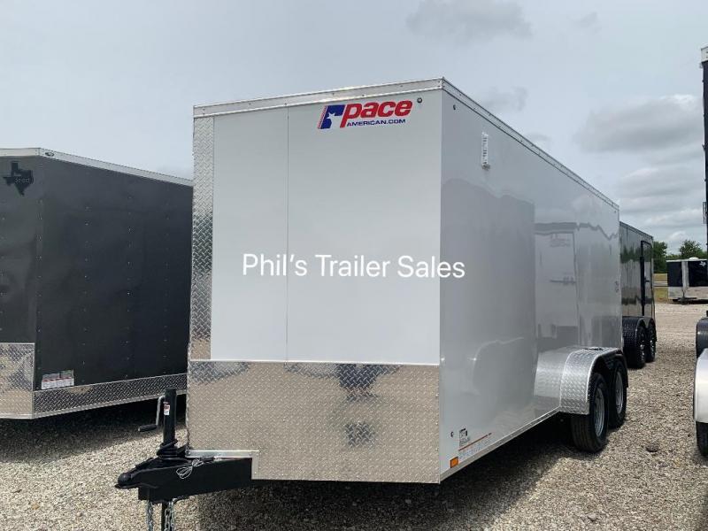 7X16 + 30 SLANT NOSE SCREWLESS  Pace SE model UPGRADED Enclosed Cargo Trailer