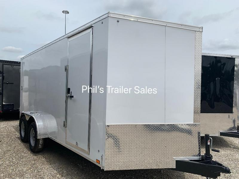 "7X16 + 30 SLANT NOSE 6' 6""  SCREWLESS  Pace SE model UPGRADED Enclosed Cargo Trailer"