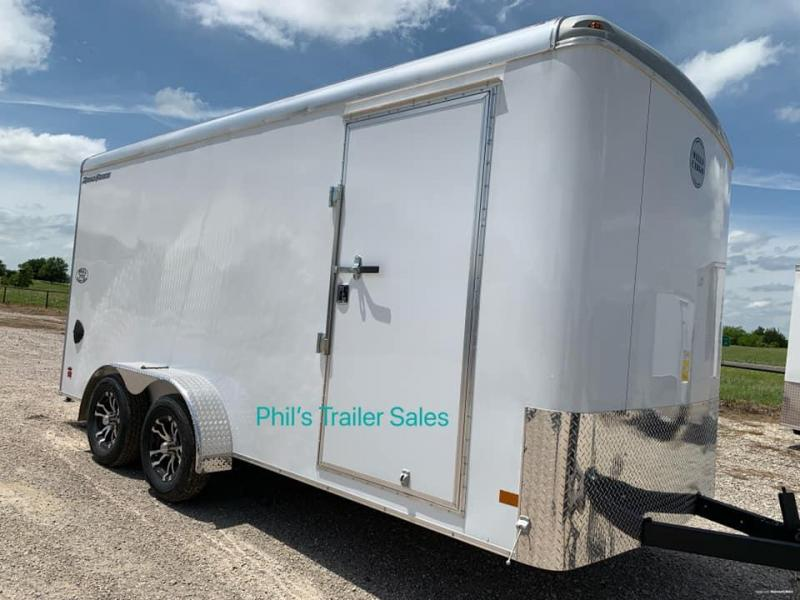 Wells Cargo 7x16 DOUBLE DOOR screw less  Road force Enclosed Cargo Trailer