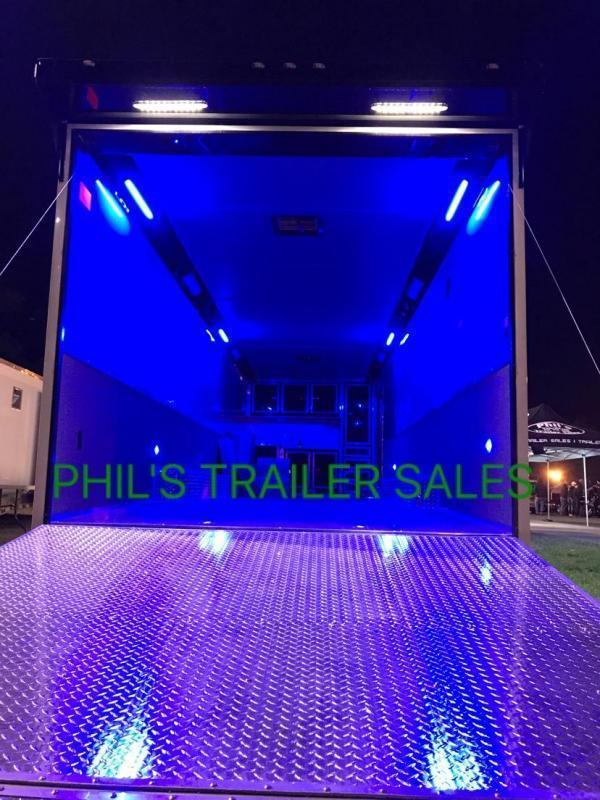 34' Continental Cargo ELECTRIC AWNING WHEEL WELL CABINET AUTOMASTER Car / Racing Trailer