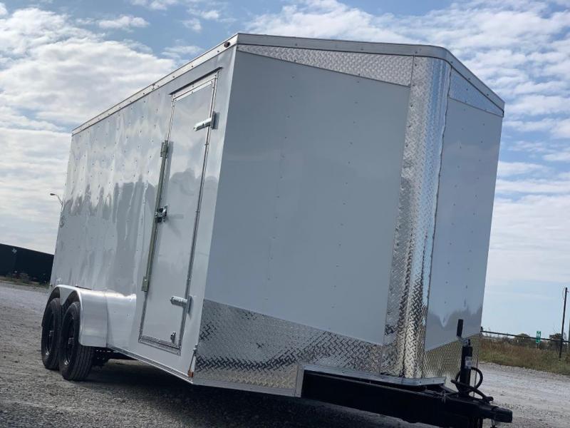 "UPGRADED 7x16 + 2 v 6'8"" Enclosed trailer Cargo / Enclosed Trailer"