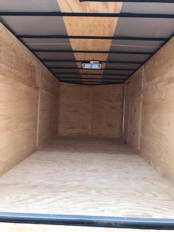 """ENCLOSED TRAILER 7x16 2 v nose 6'6"""" interior  BLACKOUT Enclosed Cargo Trailer"""