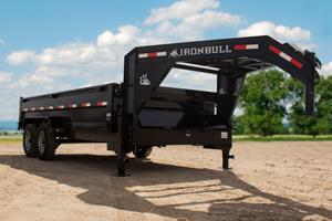 Iron Bull 83x14 GOOSE NECK  DUMP TRAILER POWDER COATED WITH TARP AND RAMP