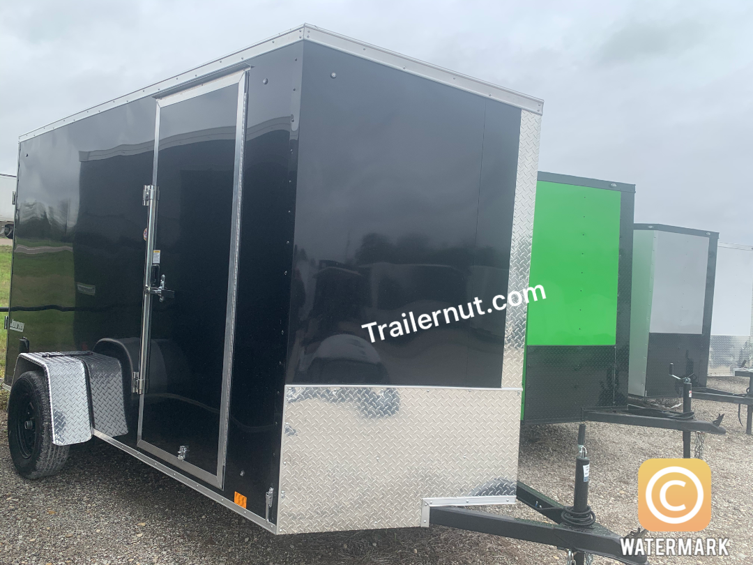 6X12 + 2 v nose  Pace Blackout Cargo / Enclosed Trailer