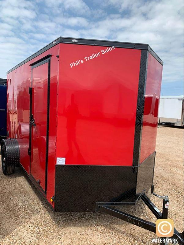 2021 Continental Cargo 6X12 RED Enclosed Cargo Trailer