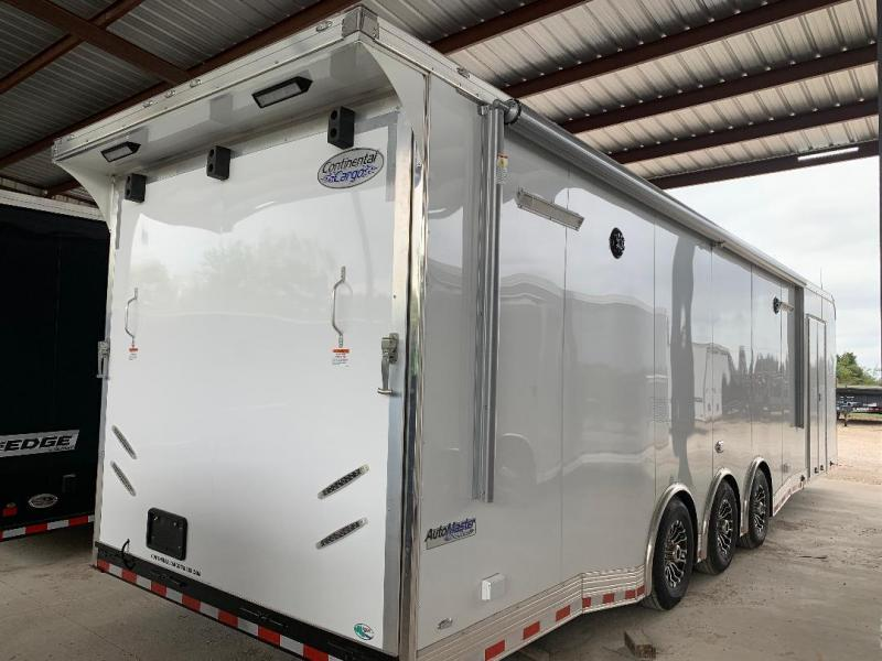 32' Continental Cargo ELECTRIC AWNING WHEEL WELL CABINET AUTOMASTER Car / Racing Trailer