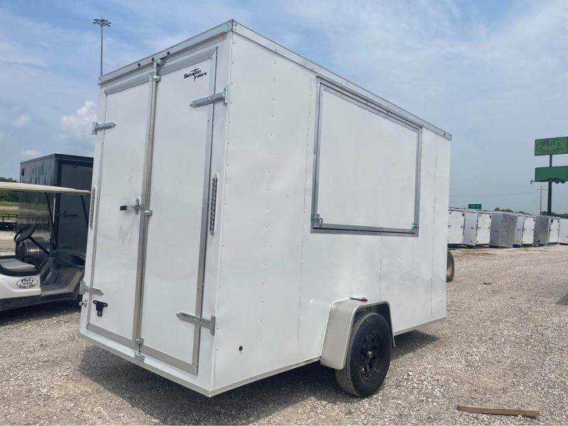 Cargo Trailer 6x12 concession door 7 FT INTERIOR
