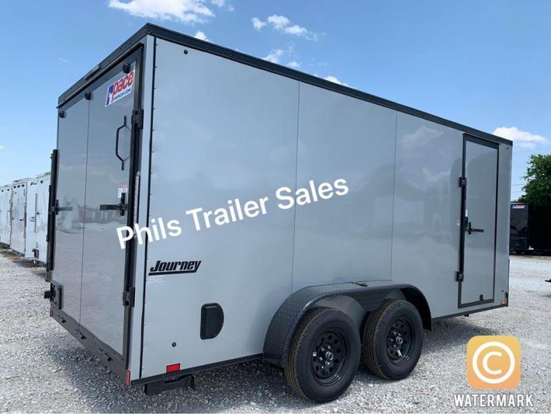 7x16 + 2 v nose  Pace Blackout Cargo / Enclosed Trailer