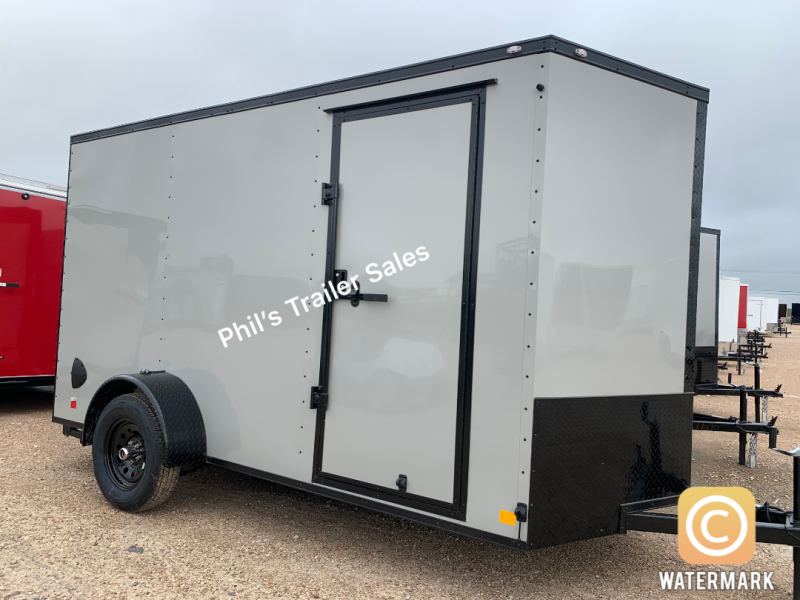 2021 Continental Cargo 6X12  DOVE GRAY Enclosed Cargo Trailer