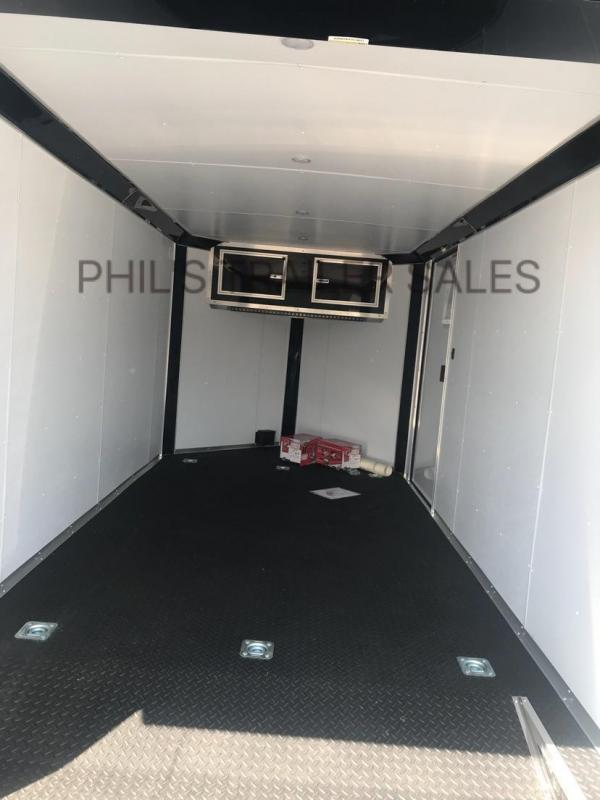 Continental Cargo 7x14  7 ft interior with WING BLACKED OUT MOTORCYCLE TRAILER Enclosed trailer