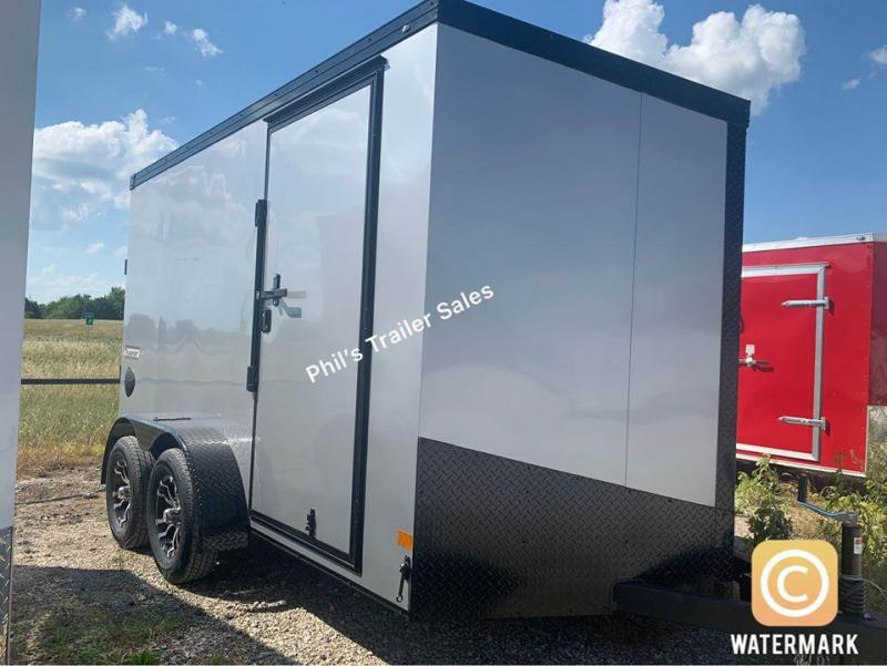 HAULMARK  7X12+  sLANT V  ENCLOSED TRAILER COMMERCIAL GRADE ROAD FORCE Enclosed Cargo Trailer