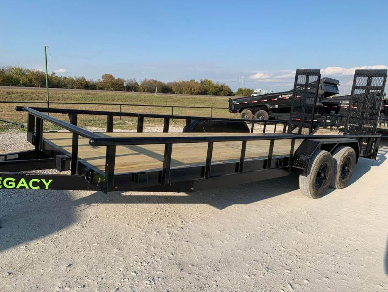 Legacy 20' 5200LB AXLES STAND UP RAMPS CHANNEL FRAME Equipment Trailer