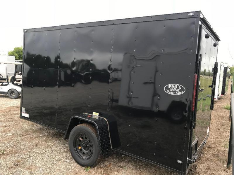 6x12 6'3 enclosed trailer cargo trailer motorcycle trailer