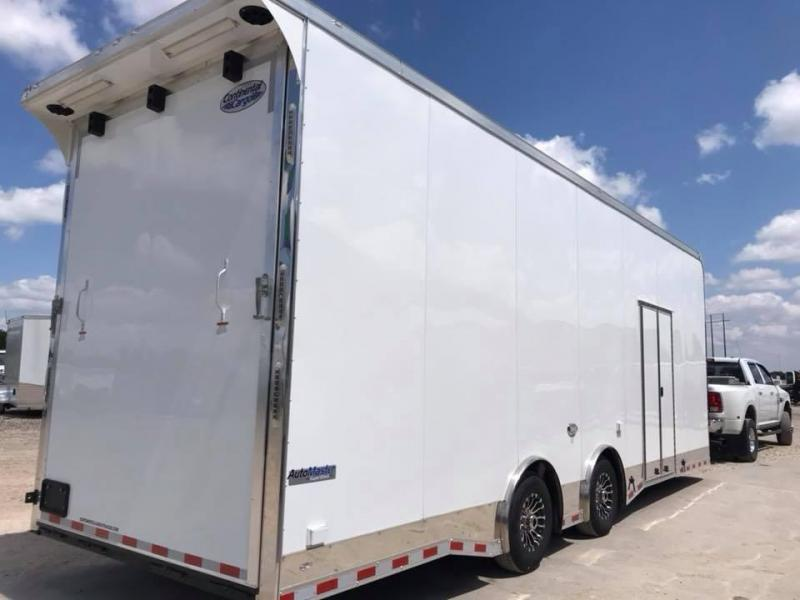 28 9 ft rear door ht  Continental Cargo Auto Master Sprint Car / Racing Trailer