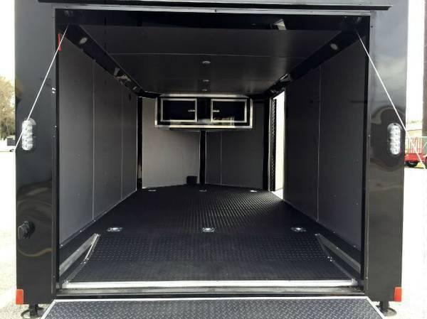 Continental Cargo 7x14+ 3  7 ft interior WHITE CHROME  motorcycle trailer Enclosed  Motorcycle Trailer