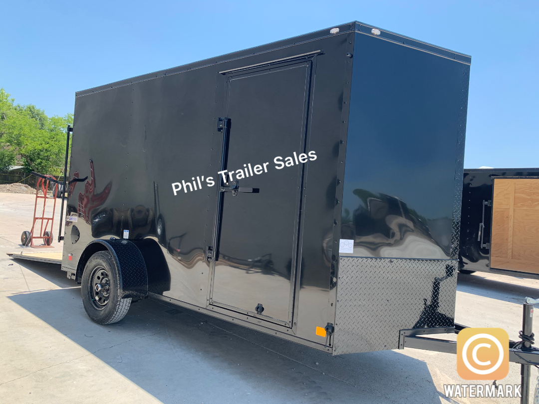 Continental Cargo 6X12 BLACKOUT  Enclosed Cargo Trailer
