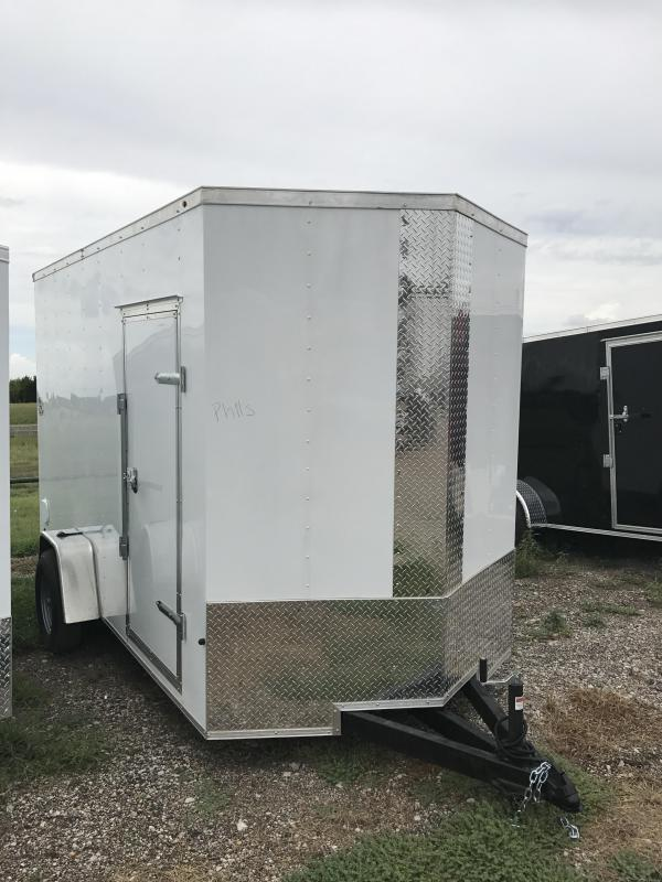 "6x12+ 2 6'6"" interior cargo trailer enclosed trailer"