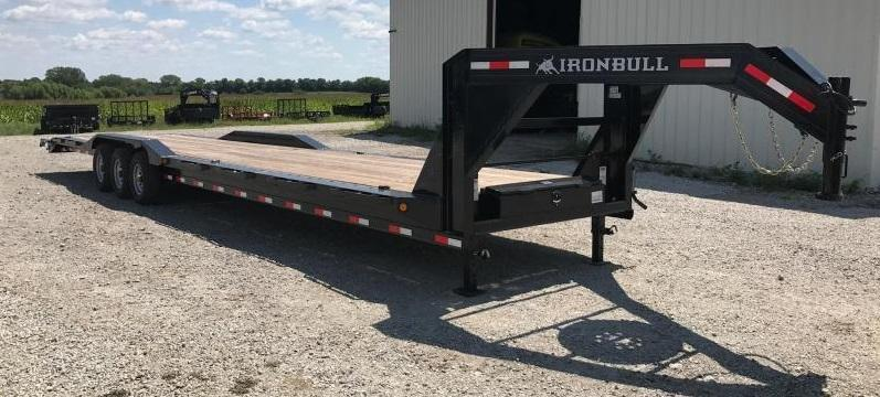 Iron Bull 102 X 44 Equipment Trailer DRIVE OVER FENDERS