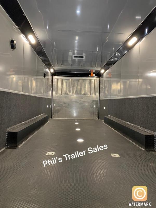28  BLACK TRIM Haulmark EDGE PRO Car / Racing Trailer LOADED