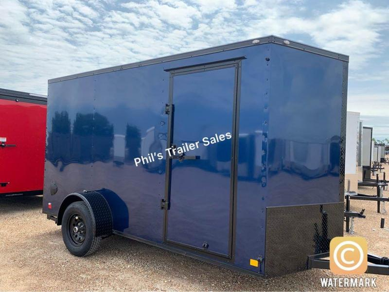 2022 Continental Cargo 6X12 BLUE Enclosed Cargo Trailer