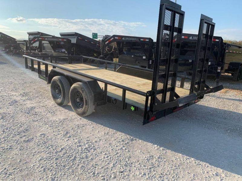 Legacy 16' 5200LB AXLES STAND UP RAMPS CHANNEL FRAME Equipment Trailer